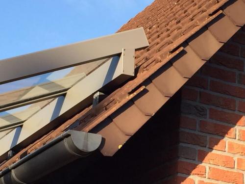 Terrassendach Aufdach Montage mit Unterzug