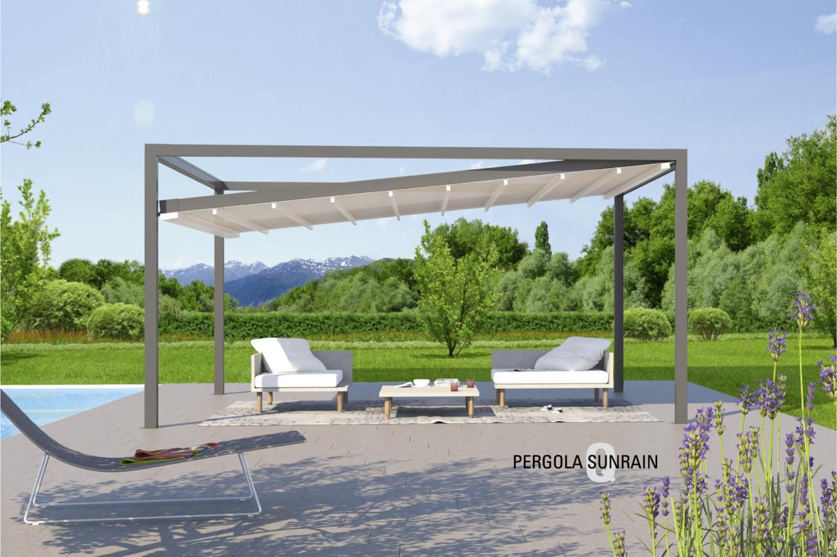 Textiles Terrassendach - Pergola Sunrain Q